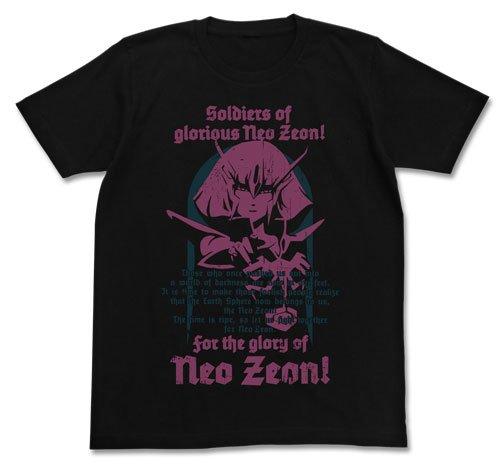 ガンダムZZ ハマーン・カーンTシャツ ブラック サイズ:S