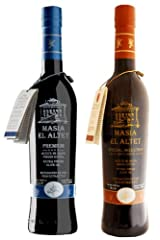 Masia el Altet Duo Pack B: Premium and Special Selection bottles- Award Winning, Cold Pressed EVOO Extra Virgin Olive Oils, 2013-2014 Harvest, two 17-Ounce Glass Bottles
