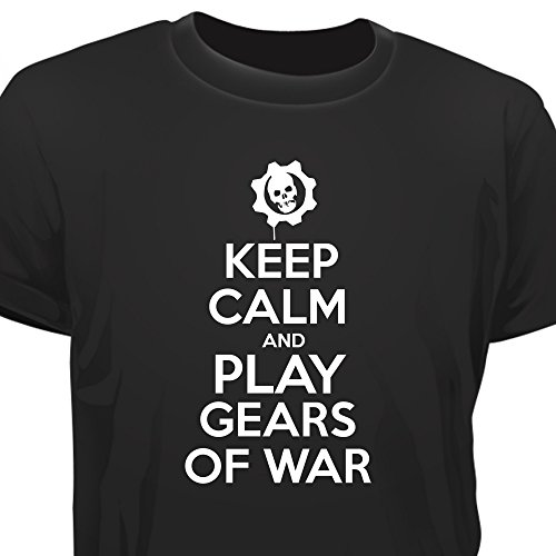 Creepyshirt - KEEP CALM AND PLAY GEARS OF WAR T-SHIRT - L