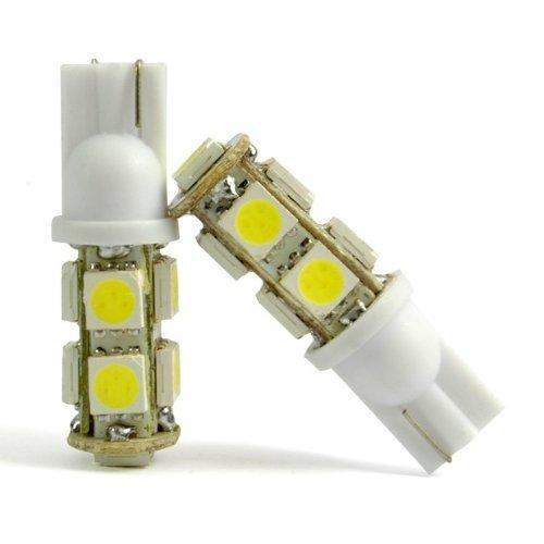 2 Pcs Instrument Cluster Side Marker Bumper Red Super Bright Light Lamp Led Bulb