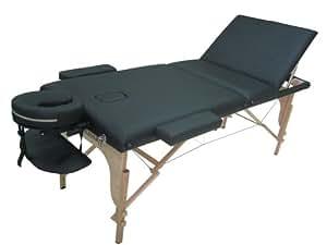 "BestMassage 72"" L 2"" Pad Black PU Reiki Portable Massage Table U3"