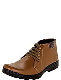 Zovi Men's Synthetic Tiger Brown High-ankle Shoes (10770408301)