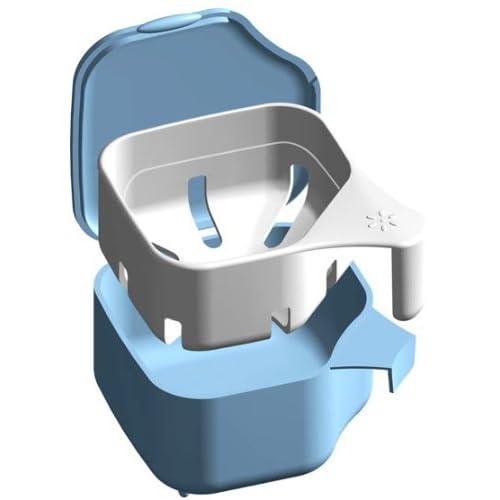 オーラルケア 入れ歯洗浄 デントクリアカップ ブルー
