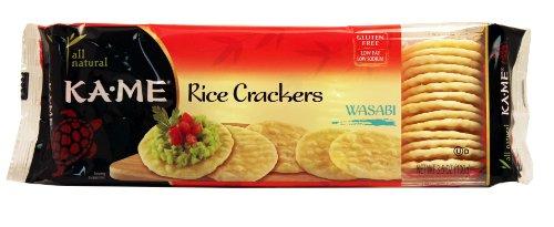 Ka-Me Rice Crackers, Wasabi, 3.5-Ounce Units (Pack of 12)
