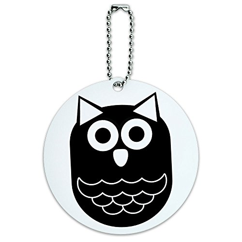 owl-black-hooter-round-luggage-id-tag-card-suitcase-carry-on