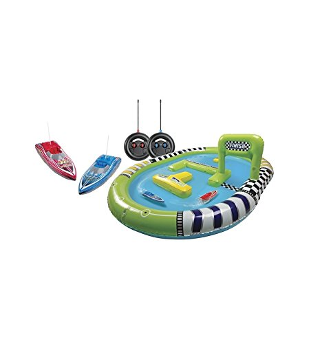 Toy Boats Remote Control for Kids Set with Racing Pool