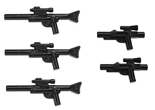 LEGO Star Wars Minifigure Blaster Guns Accessories 5 Pieces (3 Long Blasters, 2 Short Blasters) (Lego Minifigure Guns compare prices)