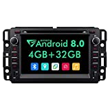 Double Din Car Stereo,7 Inch Eonon in Dash Android 8.0 Car Radio,4GB +32GB Octa-Core Car Android Head Unit Applicable to Chevrolet GMC Silverado Express Avalanche Acadia Impal Support WiFi -GA9180A (Color: GA9180A)