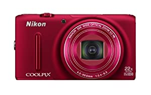 Nikon COOLPIX S9500 18.1 MP Digital Camera with 22x Zoom and Built-In Wi-Fi (Red)