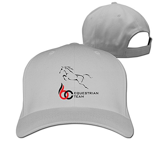 Equestrian Team Logo Baseball Snapback Cap Ash