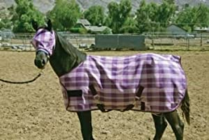 Kensington KPP Yearling/Pony Horse Protective Fly Sheet, Deluxe Red Plaid, 50-Inch to 58-Inch