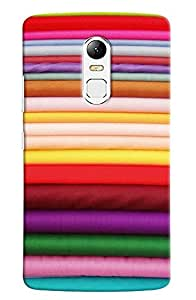 Omnam Colorful Clothes Pattern Printed Designer Back Cover Case For Lenovo Vibe X3