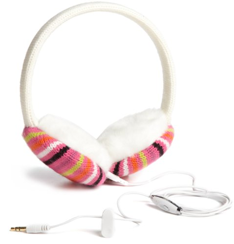 Lobers Women'S Mini Stripe Headphone Earmuffs, Pink Multi, One Size