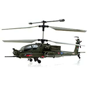 New 2012 syma s113g apache military coaxial rc for Helicoptere interieur