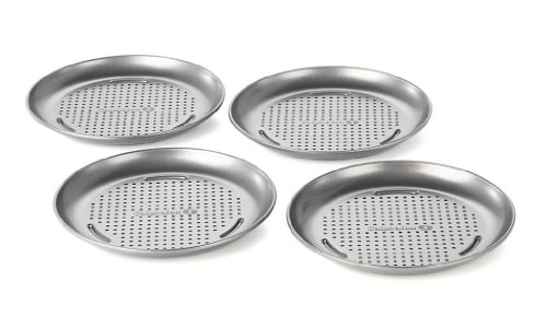 Calphalon Nonstick Bakeware, Mini Pizza Pan, 7-inch, Set of 4 (Personal Pizza Pan compare prices)