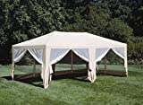 Deluxe Party Tent, Sun Shelter 20ft x 12ft Beige, Outdoor Stuffs