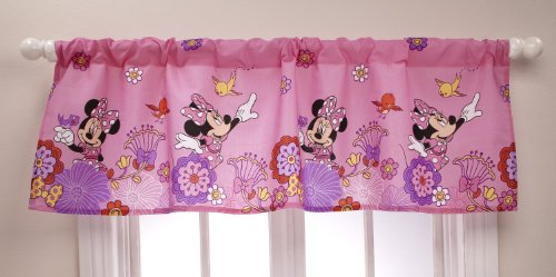 Disney Minnie Fluttery Friends Window Valance (Discontinued by Manufacturer)