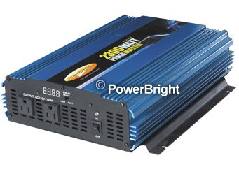 Power Bright PW2300-12 Power Inverter 2300 Watt 12 Volt DC To 110 Volt AC