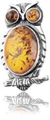 Sterling Silver and Honey Amber Littl…