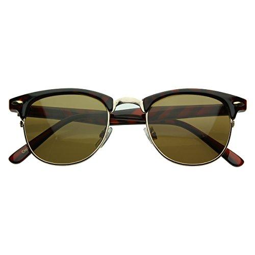 zeroUV® - Vintage Half Frame Semi-Rimless Wayfer Style Classic