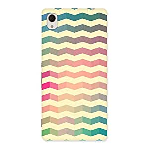 Ajay Enterprises WoSeamless ZigZag Multicolor Back Case Cover for Xperia M4 Aqua