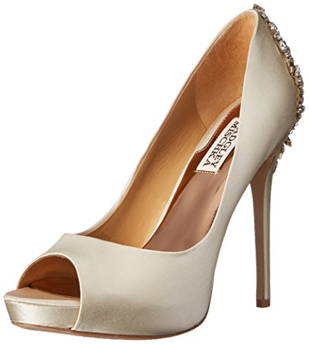 Badgley Mischka Women's Kiara Dress Pump, Ivory, 9.5 M US