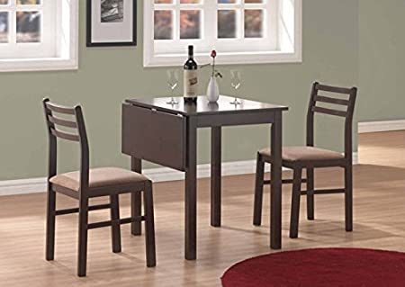 CAPPUCCINO 3PCS SOLID-TOP DROP LEAF DINING SET (SIZE: 35L X 30W X 30H)