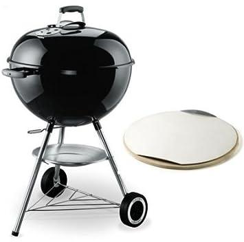 barbecue charbon weber original kettle 57cm noir pierre a pizza