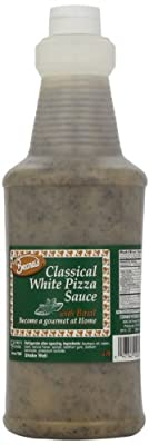 Classical White Pizza Sauce, Basil, 32 Ounce