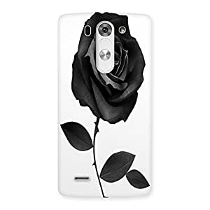 Unicovers Black Rose Back Case Cover for LG G3 Mini