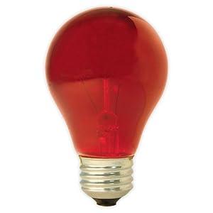 GE Lighting 49727 25-Watt A19 Party Light, Red