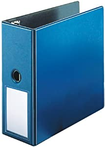 Cardinal EasyOpen Locking Slant-D Ring Binder with Label Holder, 5 Inch Capacity, Letter Size, Blue (18767E)