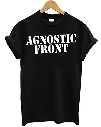 T-shirt Uomo Agnostic Front - Magliettal 100% cotone LaMAGLIERIA,XL, Nero