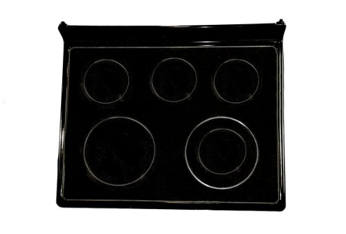 LG Electronics 3301W0N002R Electric Range Glass Cooktop Assembly, Black