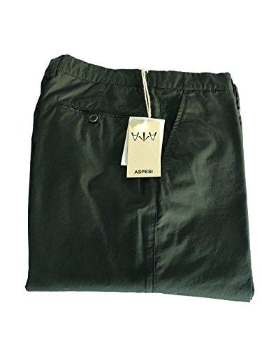 ASPESI pantalone uomo grigio/verde mod SECCO CP07 2561 100% cotone tg. 50