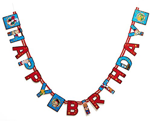 Jake and the Never Land Pirates Birthday Party Banner, Party Supplies