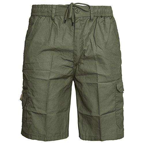 mens-plain-summer-shorts-pure-cotton-cargo-combat-style-xxx-large-olive