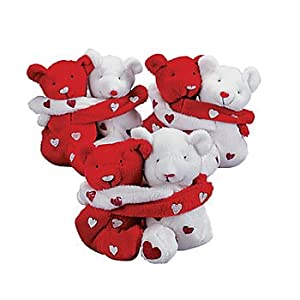 Plush Hugging Valentine Bean Bag Bear(One Set)/VALENTINE'S DAY Gift/Decor/LOVE by Oriental Trading Co.