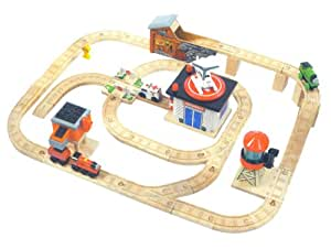 Wooden Thomas & Friends: Play Table Set: Harold & Percy to the Rescue