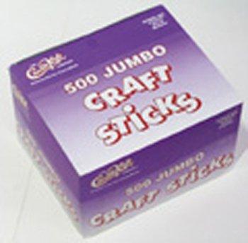 Jumbo Craft Sticks 500 Pieces Natrl -- Case of 4