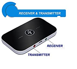 JT Low Latency 2 In 1 Multi Connect Bluetooth Transmitter & Receiver for TV, Home Audio for streaming music