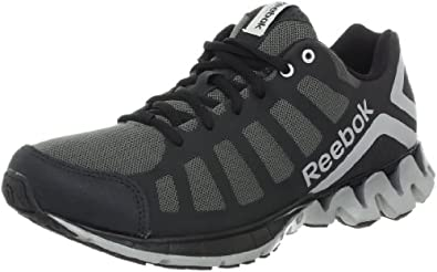 Reebok Men's Zig Heel Running Shoe,Rivet Grey/Black/Pure Silver,7 M US