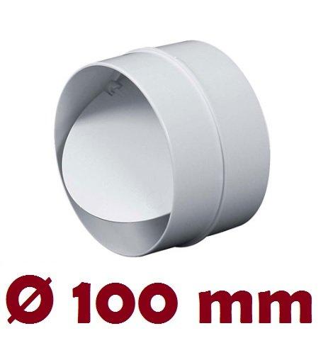 MKK-SHOP Verbindungsstück mit Rückstauklappe Verbinder Lüftungsrohr Rundkanal Rohr Ø 100 mm Lüftungsanlage Kanal K0100 22