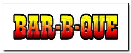 """12"""" Bar-B-Que 1 Decal Sticker Barbque BBQ Smoker"""