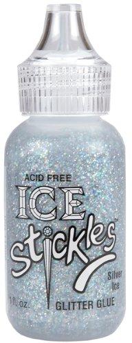 Ranger Ice Stickles Glitter Glue 1-Ounce, Silver Ice