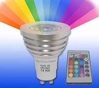 remote control colour changing light bulb gu10 led 16 colour changing with memory function by. Black Bedroom Furniture Sets. Home Design Ideas