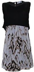 Attuendo Women's Tiered Georgette Aztec Dress (Medium)
