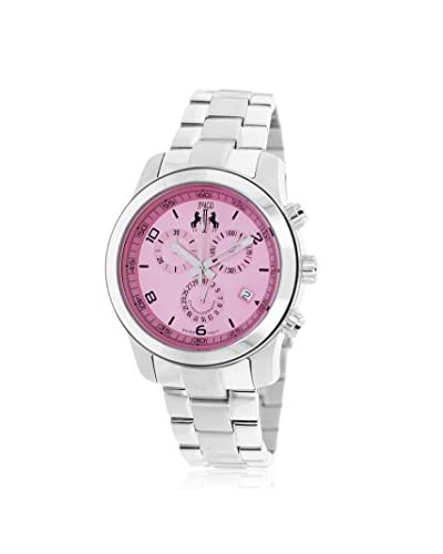 Jivago Women's JV5229 Infinity Silver/Pink Stainless Steel Watch