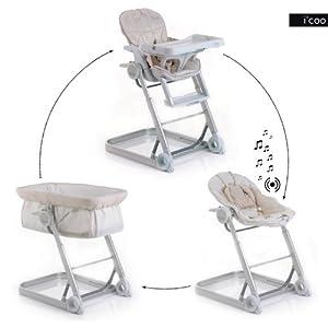 Liste de cadeaux de louna e tampon haute chaise top moumoute - Chaise haute evolutive transat ...