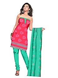 Parinaaz Fashion Gajri Cotton Straight unstitched salwar suit